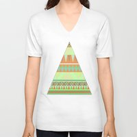 aztec V-neck T-shirts featuring Aztec by Elli F