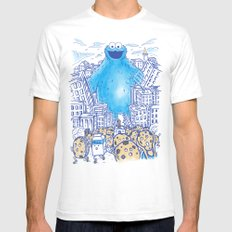 Monster in the city White Mens Fitted Tee MEDIUM
