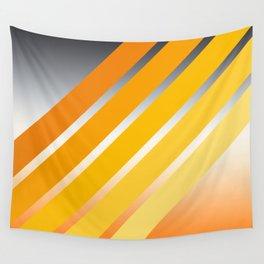 Orange Striped Gradient Wall Tapestry