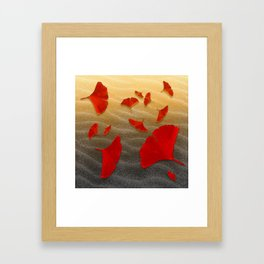 Red Ginko Framed Art Print