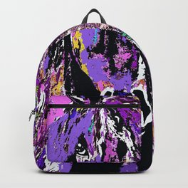 HORSE WILD AND PRETTY OIL PAINTNG Backpack
