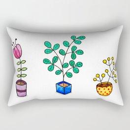 Flower pots Rectangular Pillow