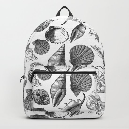 Sea and Ocean Life-Shell Pattern-Mix & Match with Simplicity of life Backpack