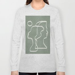 Abstract Faces Long Sleeve T-shirt