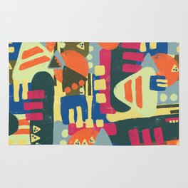 Abstract geometric shapes pattern Rug