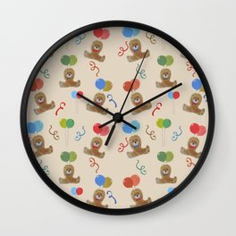 Teddy and Balloons Wall Clock