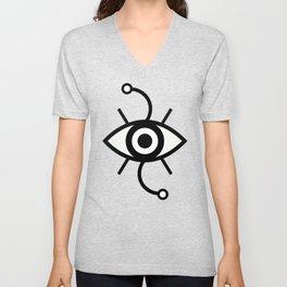 Wondering Eye (Black) Unisex V-Neck