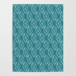 Watercolor Diamonds <> Turquoise Poster