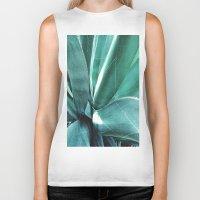 cactus Biker Tanks featuring Cactus by Alexandra Str