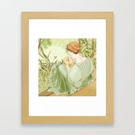 Embroideress Framed Art Print