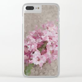 Pink Hyacinth Clear iPhone Case