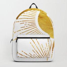 Golden Sunburst Starburst White Hot Backpack
