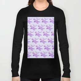 Purple moose Long Sleeve T-shirt