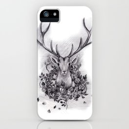 Deer with a Wreath of Roses iPhone Case