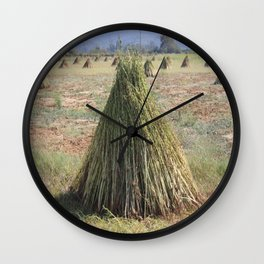 Harvested Sesame Crop Wall Clock