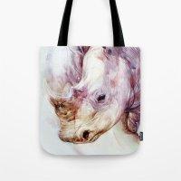 rhino Tote Bags featuring RHINO by beart24