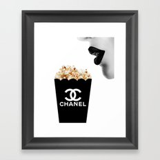 Fashion Pop Corn Framed Art Print
