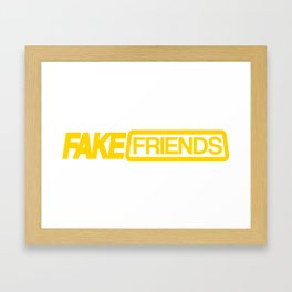 Fake friends Framed Art Print