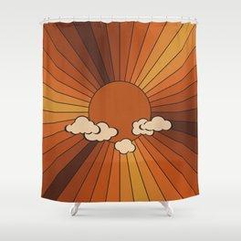Retro Sunshine Shower Curtain