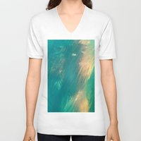 mermaid V-neck T-shirts featuring Mermaid by Paul Kimble