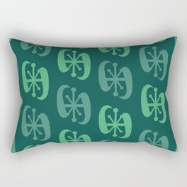 Starburst Bell Peppers Dark Green Rectangular Pillow