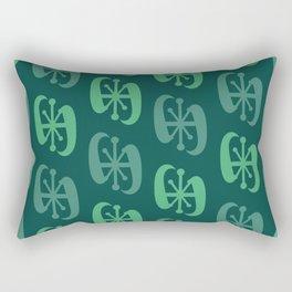 Starburst Bell Peppers Dark Green Rectangular Pillow