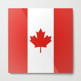 Red and White Canadian Flag Metal Print