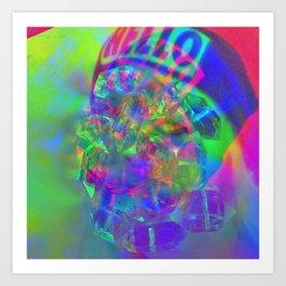 Crystal Face Art Print