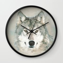 The Gray Wolf - Sketch Wall Clock