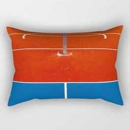 The Court in Red and Blue (Color) Rectangular Pillow