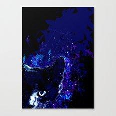 Astro Cat - Geometric Cat Abstract Art Canvas Print