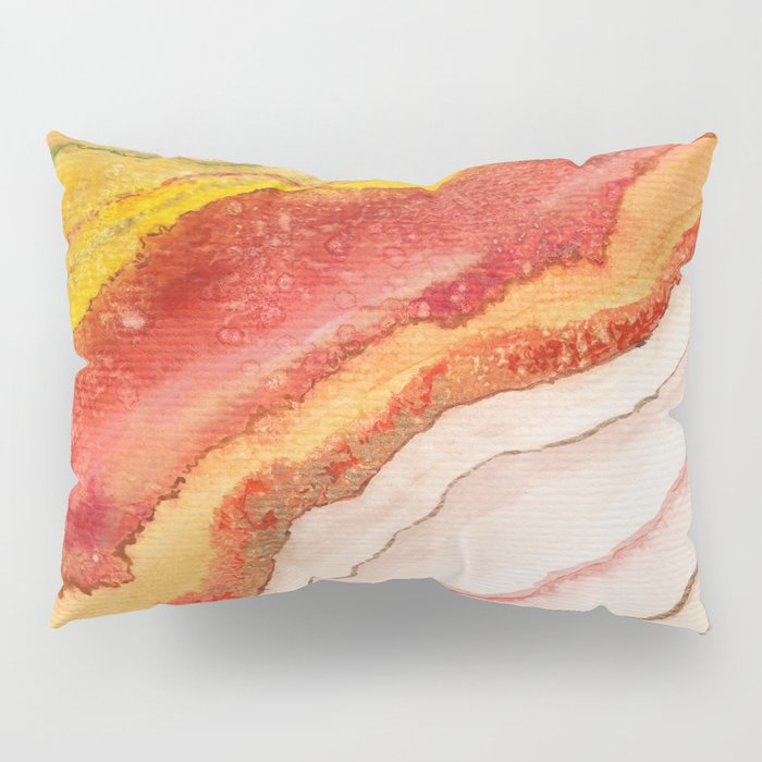 AGATE Inspired Watercolor Abstract 03 Pillow Sham