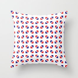 square and tartan 17 - blue and red Throw Pillow