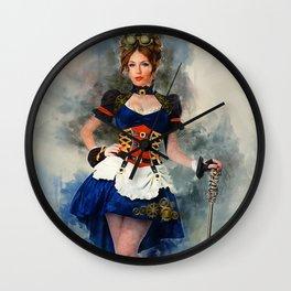 Steampunk Girl Wall Clock