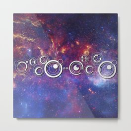 DOCTOR WHO TIMEY-WIMEY WITH THE MILKY WAY Metal Print