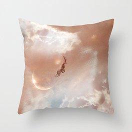 Sky Ram Throw Pillow