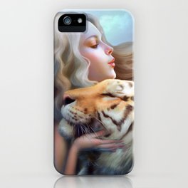 Angel of Tigers iPhone Case