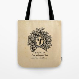 Sylvia Plath - Lady Lazarus Tote Bag