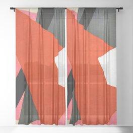 Lyubov Popova Painterly Architectonic Sheer Curtain