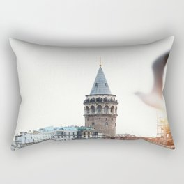 Galata Tower, Istanbul, Turkey Rectangular Pillow