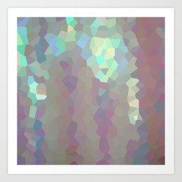 Iridescent Crystal Pattern Art Print