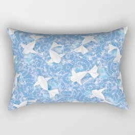 Origami Koi Fishes (Sky Pond Version) Rectangular Pillow