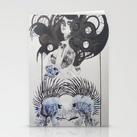 goth Stationery Cards featuring Goth spirit  by Aggelikh Xiarxh
