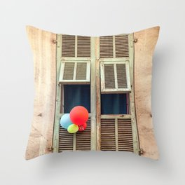 Nice France window 6133 Throw Pillow