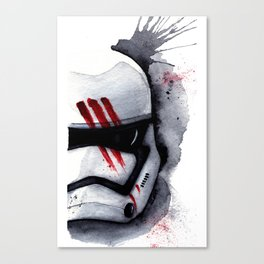 Finn Stormtrooper The Force Watercolor art Print Star paint Canvas Print