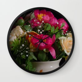 Colourful bouquet Wall Clock