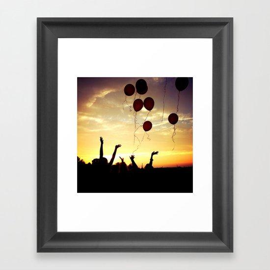 Let go Framed Art Print