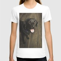lab T-shirts featuring Black Lab by Every Dog Has a Story