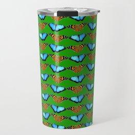 Butterflies (green) Travel Mug