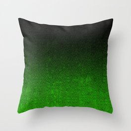 Green & Black Glitter Gradient Throw Pillow